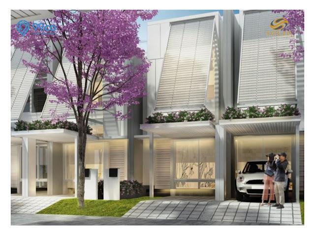Fasad Tampak Depan Rumah CLuster Tabebuya